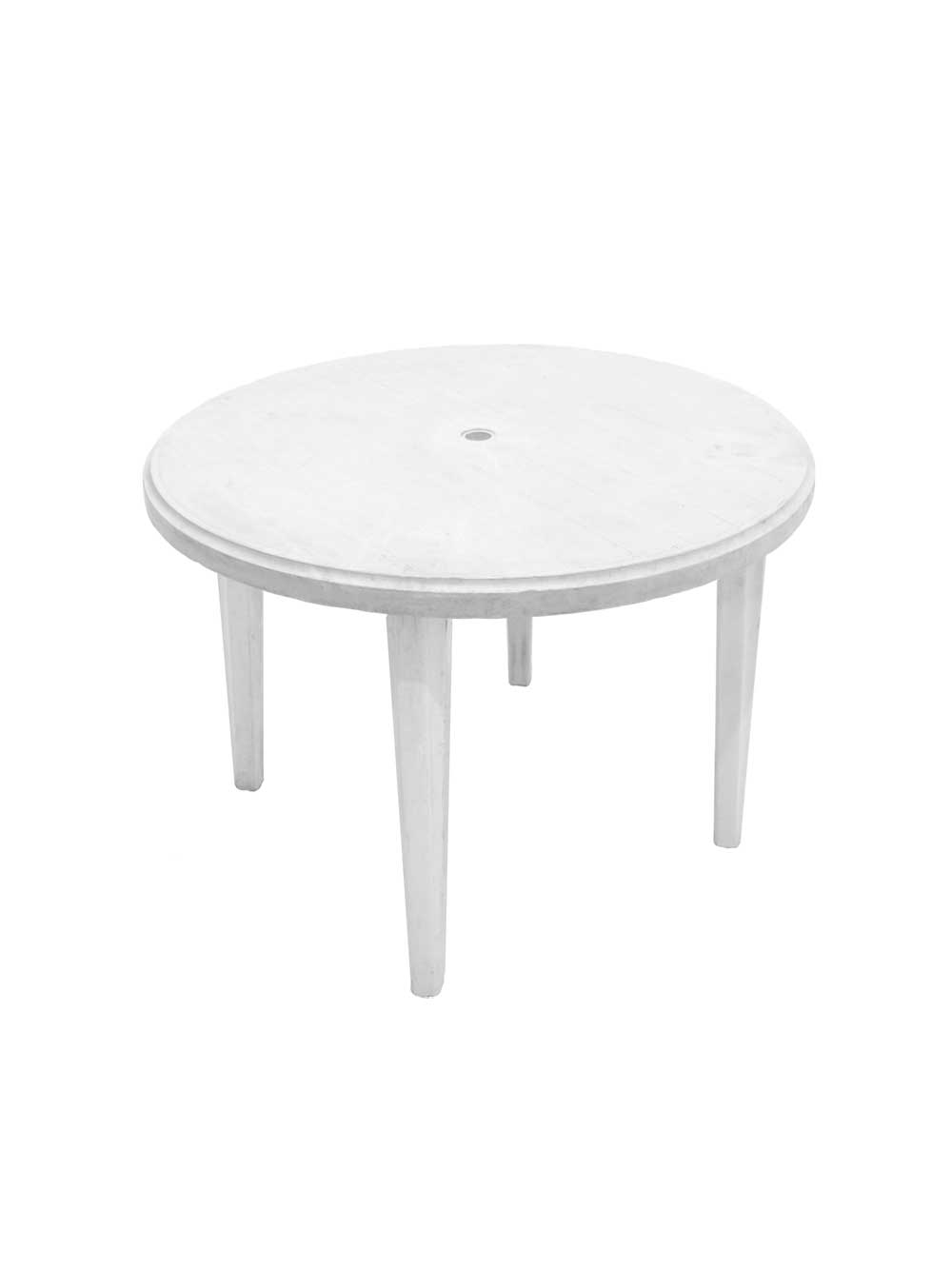 White Plastic Garden Table - Blacks Event Furniture